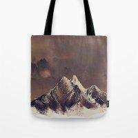 Rustic Mountain Tote Bag