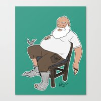Old Man Reclining (Nap Time) Canvas Print