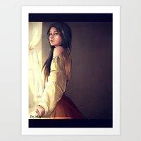 Women In The Window Art Print