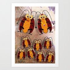 Cockroaches Art Print