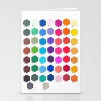 Hexagon Color Chart Stationery Cards