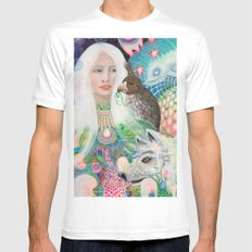 Spirit Fruit SMALL White Mens Fitted Tee