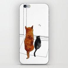 cat and dog  iPhone & iPod Skin