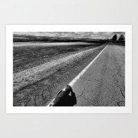 Sur la route de Kerouac Art Print