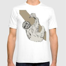 Sloth Mens Fitted Tee White SMALL