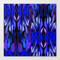 Indigo Fever Canvas Print