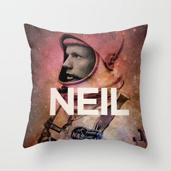 Neil. Throw Pillow