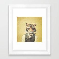 Humanimal: Tiger Framed Art Print