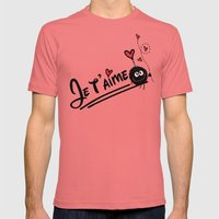 JE T'AIME Mens Fitted Tee Pomegranate SMALL