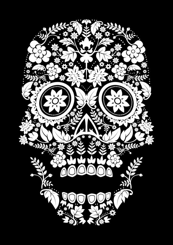 Day of the Dead Skull No.14 Canvas Print