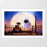 Wall-E & Eve - Painting … Art Print