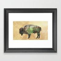 Surreal Buffalo Framed Art Print
