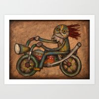 My Harley Art Print