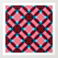 Square Pattern Serie 1 R… Art Print