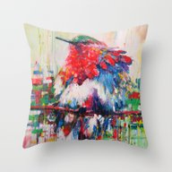 Colorful Bird- Nature  Throw Pillow