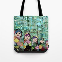 Matryoshka Nesting Dolls Tote Bag