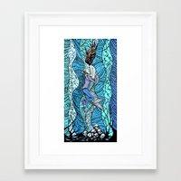 Jonathon & the Mermaid Framed Art Print