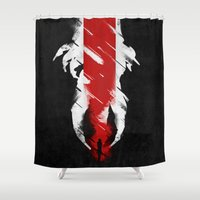 The Effect (Reaped) Shower Curtain