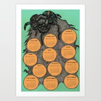 Sheep Calendar 2015 Art Print