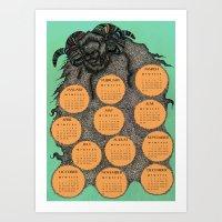 Sheep Calendar 2015 Art Print