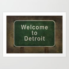 Welcome To Detroit Highw… Art Print