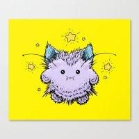 Kitty Fairy fluff Canvas Print