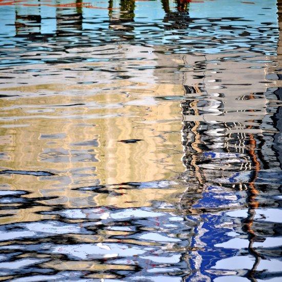 marine reflection Art Print
