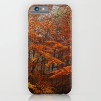 Orange Leaves Trees Fore… iPhone 6 Slim Case
