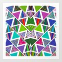 Geometric pattern # 12 Art Print
