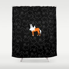 Boo Unicorn Shower Curtain