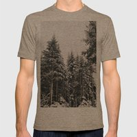 Snowy Paradise Mens Fitted Tee Tri-Coffee SMALL