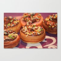 Funny Doughnuts Canvas Print