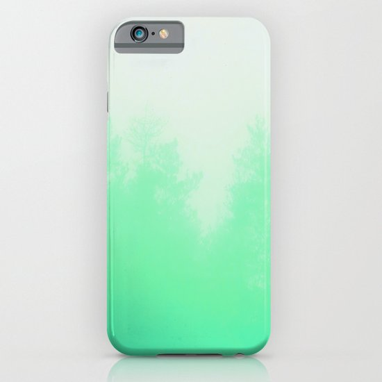 Out of focus - cool green iPhone & iPod Case