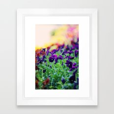 Rainbow of Flowers Framed Art Print