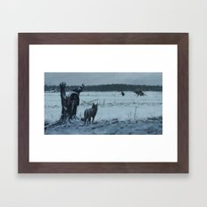 someone to blame Framed Art Print