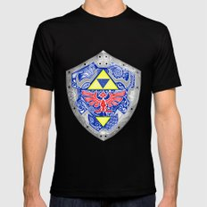 Zelda's Shield - Black Mens Fitted Tee Black SMALL