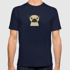 Pug Mens Fitted Tee Navy SMALL