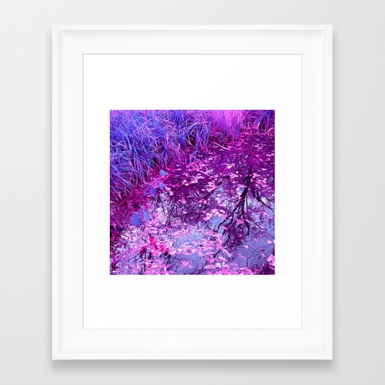purple garden pond I Framed Art Print