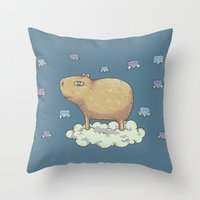 Capy In The Sky With Dia… Throw Pillow