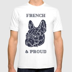French & Proud SMALL Mens Fitted Tee White