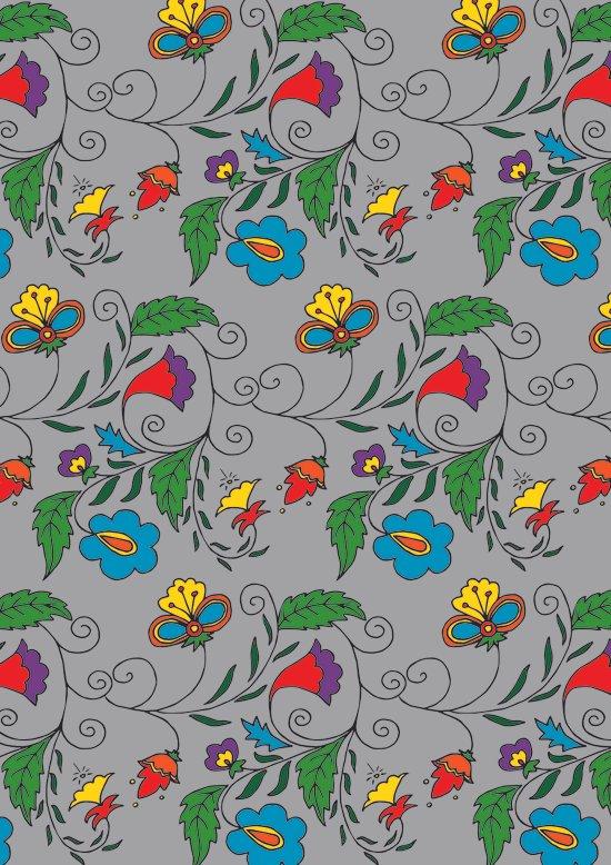Ethnic Floral Flow Art Print