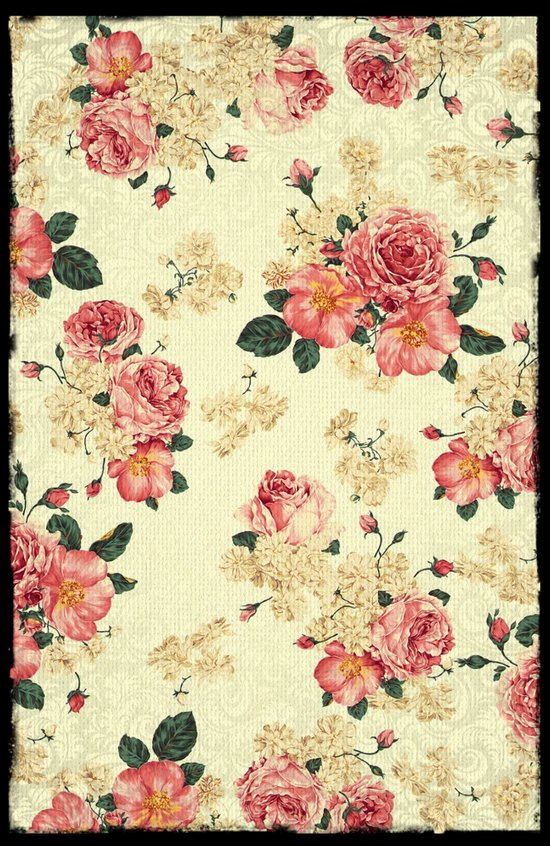 VINTAGE FLOWERS V - for iphone Art Print