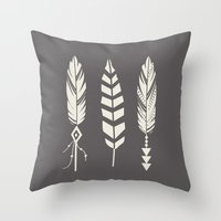 Gypsy Feathers Throw Pillow