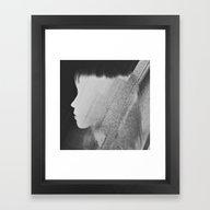 Faceless Charcoal Framed Art Print