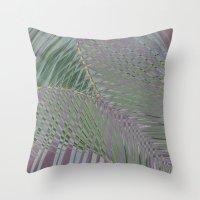 Trippy Pastel Palm Throw Pillow