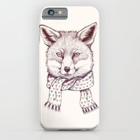 iPhone & iPod Case featuring Fox and scarf by ValD