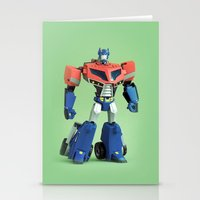 Optimus Prime (Animated) Stationery Cards