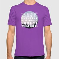 Wilderness Mens Fitted Tee Ultraviolet SMALL