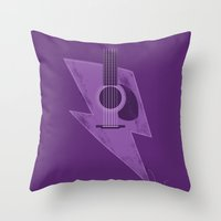 Electric - Acoustic Ligh… Throw Pillow