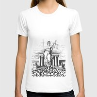 The Skulls of Justice Womens Fitted Tee White SMALL